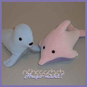 Robbe und Delfin (mit Spieluhr)